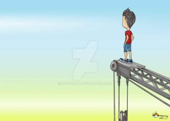 Omeng On Crane by Dinuguan