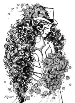 Zinnias and Curlies by GingerOpal