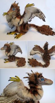 Feathered Velociraptor by kimrhodes
