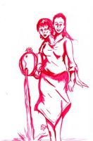 Daily Sketch: Tiffany and Samantha by Hunchy