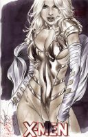 White Queen Phoenix5 copic sketch by eBas by ebas