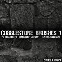 Cobblestone Brushes 1 by AscendedArts