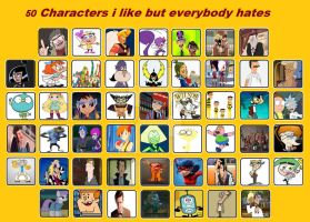 50 Characters I Like But Everybody Hates by Toongirl18