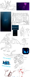 Late 2013 - End of 2014 Sketch Dump by CriexTheDragon