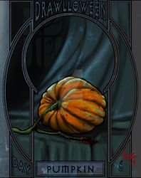 Drawloween 2015 day 6, Pumpkin by Hexonal