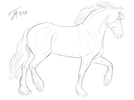 Horse Lineart10 by cacahuate16