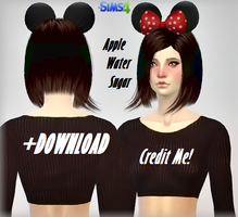 [MMD] Sims 4 Minnie Mouse Ears (+Download) by AppleWaterSugar