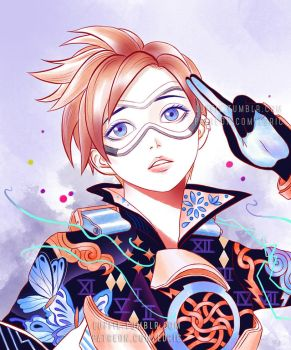 Tracer Illustration by luffie