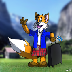 Huk the Kiltfox is back! by CescoCat