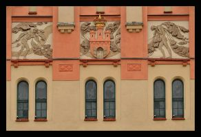The Facade Of The National Old Theatre In Cracow by skarzynscy