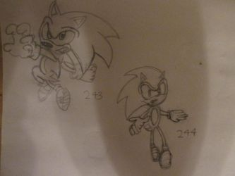 Sonic Sketches: 3 by SonicWindAttack