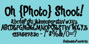 Oh Photoshoot font by TheTimeeOfOurLives