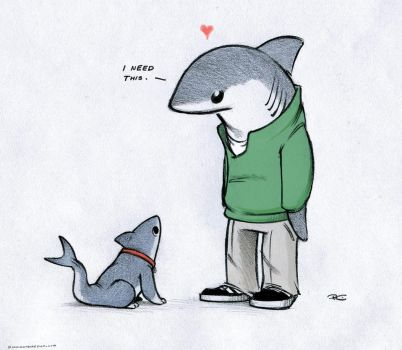 Lanny and Shark Puppy by RobtheDoodler