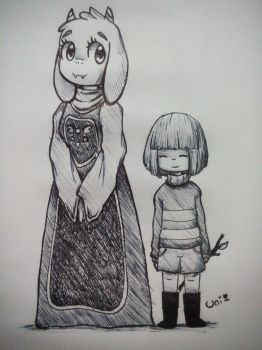 Tori and Frisk! by valescalove321