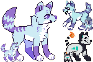 pixel commissions for SoxzTheWolf by Knyuo