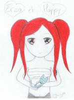 Erza et Happy chibi by erza51rock