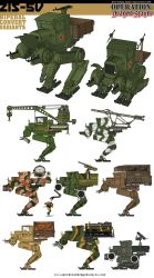 Soviet Zis-5v Bipedal Conversion Variants by Rob-Cavanna