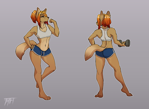 Gym shorts by WolFirry