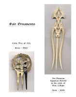Hair pins of horn and bone by Bonecarverpm