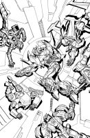 TF MTMTE 21 cover lineart by markerguru