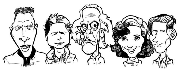 Back to the Future Caricatures by binarygodcom