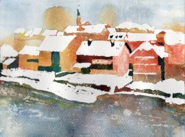 Winter in Novo mesto by Yesmouse