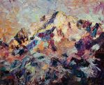 Mountain Top in Sunset Light by Art-deWhill