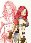 Red Sonja and Conan 1/2 way done