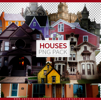 Houses | Png Pack by sweetpoisonresources