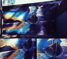 Mural Project (CLICK TO WATCH TIMELAPSE VIDEO) by BoFeng