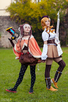 Puella Magi Madoka Magica - Mami and Nagisa 2 by KiaraBerry