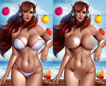 NSFW Summer D.VA Already on Patreon! by v1mpaler