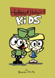 Hatboy and Hatgirl Kids Front Cover by rachetcartoons