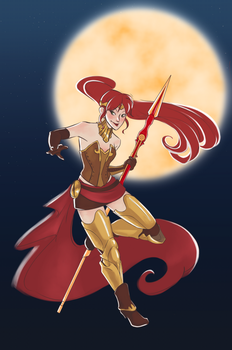 Pyrrha Wallpaper by sparkyrabbit