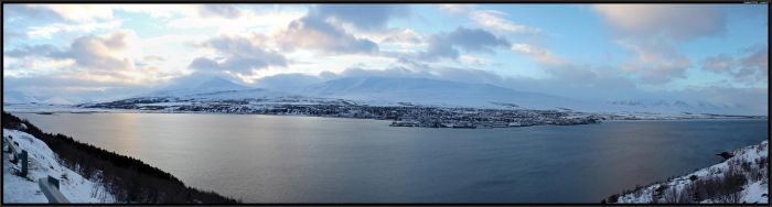 Akureyri panorama by Miuquz