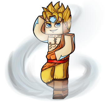 Minecraft Avatar - Air Bender Solace by GoldSolace