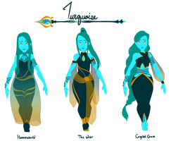 [Gemsona] Turquoise's Outfits by KrysalisK