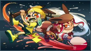 Lets Go! Inkling, Octoling by pure1water