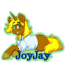 Harmonycon Badge Commission - Joy Jay by Twisted-Sketch