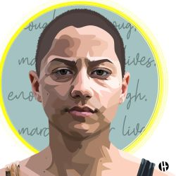 hallmark-illustration-emma-gonzalez by eeemily209