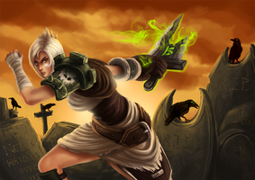 LoL - Riven, the Exile by fivetinsoldiers