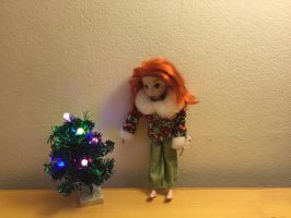Kim possible's Christmas tree by montrain101