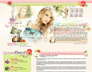 Taylor Swift Layout by toxicdesire
