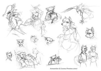 Armarniss Sketches 4 by Leopreston
