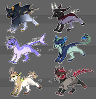 Fantasy Creatures / Canine Adoptables (Open) SALE by SolalaAdopts