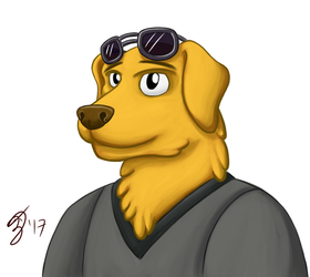 Mr. Peanutbutter (Color) by GeminiShadows