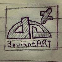 DeviantArt Logo Sketch by DRSDavidSoft