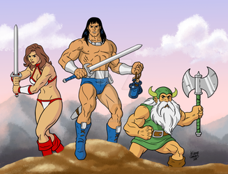 Golden Axe again by BezerroBizarro