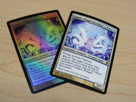 Magic: The Gathering - Octopus Angel Card Proxies by Dandy-L