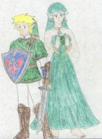 Courage - Link and Farore by FoxBluereaver